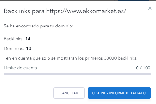 analisis de backlinks con seranking