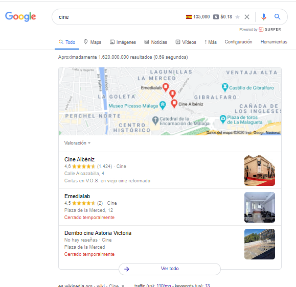 intencion de busqueda SEO local Ir a un lugar google my business