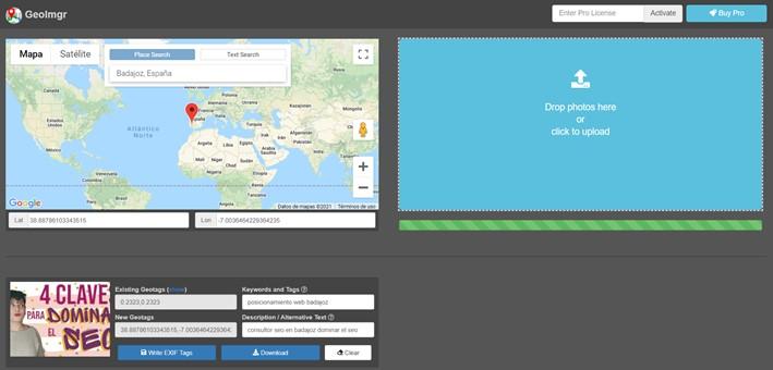 geolocalizar imagenes geoimgr seo local