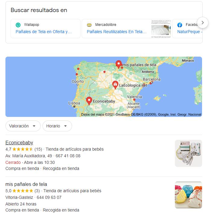 resultados de busqueda de google